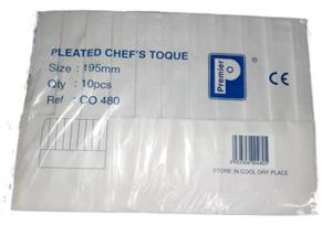 5010051N pleated Chef Toque