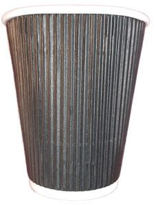 5087035C  12oz Black Ripple Cup