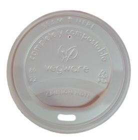 5087046C 89mm CPLA Hot Cup Lid fits 10oz-20oz Case 1000