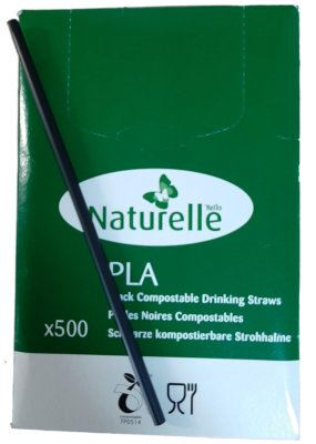 5087060N Black PLA compostible straws